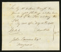 Colonial Notes:Connecticut, Connecticut Handwritten Pay Table Office £4 8s 4d February 12, 1787Very Fine.. ...
