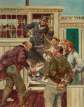 Paintings, DEAN CORNWELL (American, 1892-1960). Mutiny. Oil and pencil on board. 29-1/2 x 23-1/4 inches (74.9 x 59.1 cm). Signed lo...