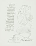 Books:Original Art, [Original Art]. Gahan Wilson. SIGNED. Original Pen and Ink Drawing Entitled, Tower of Pisa. Published in the Win...