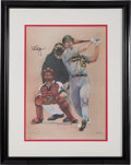 Autographs:Others, 1992 Mark McGwire Signed Lithograph....