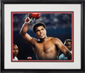 Boxing Collectibles:Autographs, 1990's Muhammad Ali Signed Oversized Neil Leifer Photograph. ...