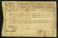 Colonial Notes:Massachusetts, Massachusetts Treasury Certificate 6% Class the Fourth £30 February5, 1780 Anderson MA-16 Fine-Very Fine.. ...