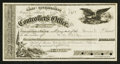Obsoletes By State:Nevada, Carson, NV - State Controller's Warrant $4.35 Sep. 23, 1871.. ...