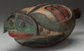 American Indian Art:Wood Sculpture, A CONTEMPORARY NORTHWEST COAST CARVED WOOD RATTLE...