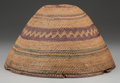 American Indian Art:War Shirts/Garments, A NOOTKA TWINED RAIN HAT...
