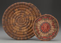 American Indian Art:Baskets, TWO HOPI BASKETRY ITEMS... (Total: 2 Items)