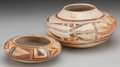 American Indian Art:Pottery, TWO HOPI POLYCHROME JARS. c. 1900... (Total: 2 Items)