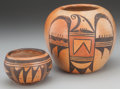 American Indian Art:Pottery, Two Hopi Polychrome Jars... (Total: 2 Items)