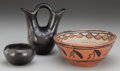 American Indian Art:Pottery, Three San Ildefonso Pottery Vessels... (Total: 3 Items)