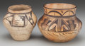 American Indian Art:Pottery, TWO HOPI POLYCHROME JARS. c. 1900 and 1920 ... (Total: 2 Items)