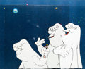 Animation Art:Production Cel, Spaced Out Bunny Hugo the Abominable Snowman Production CelGroup (Warner Brothers, 1980).... (Total: 3 )