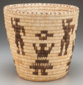 American Indian Art:Baskets, A PAPAGO PICTORIAL COILED BASKET...