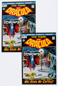 Bronze Age (1970-1979):Horror, Tomb of Dracula #2 Group (Marvel, 1972) Condition: Average VF+....(Total: 2 Comic Books)