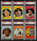 Baseball Cards:Lots, 1959 Topps Baseball PSA NM-MT 8 Collection (16). ...