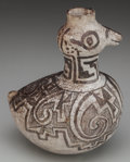 American Indian Art:Pottery, AN ANASAZI BLACK-ON-WHITE ANIMAL EFFIGY VESSEL. c. 1200 AD...