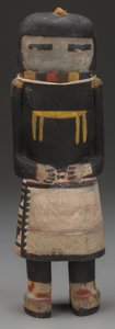 American Indian Art:Kachina Dolls, A HOPI COTTONWOOD KACHINA DOLL. Angak'china, or Long-HairedKachina. ...