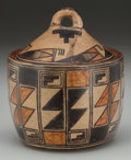 American Indian Art:Pottery, A SAN ILDEFONSO POLYCHROME JAR WITH LID...
