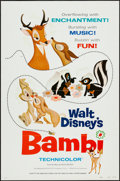 """Movie Posters:Animation, Bambi & Other Lot (Buena Vista, R-1975). One Sheets (2) (27"""" X 41"""") Style A. Flat Folded. Animation.. ... (Total: 2 Items)"""