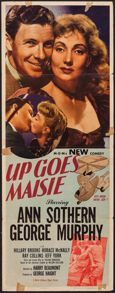 """Up Goes Maisie (MGM, 1946). Insert (14"""" X 36""""). Comedy.. ... Movie 