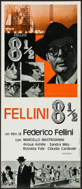 "Movie Posters:Foreign, 8½ (Cineriz, 1963). Italian Locandina (11.5"" X 27""). Foreign.. ..."