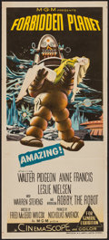 "Movie Posters:Science Fiction, Forbidden Planet (MGM, 1956). Australian Daybill (13"" X 30"").Science Fiction.. ..."