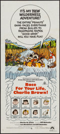 "Movie Posters:Animation, Race for Your Life, Charlie Brown (CIC, 1977). Australian Daybill (13"" X 29.5""). Animation.. ..."