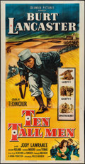 "Movie Posters:Adventure, Ten Tall Men (Columbia, 1951). Three Sheet (41"" X 81""). Adventure....."