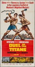 "Movie Posters:Action, Duel of the Titans (Paramount, 1963). Three Sheet (41"" X 79"").Action.. ..."