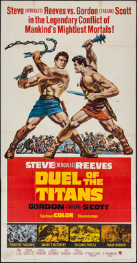 """Duel of the Titans (Paramount, 1963). Three Sheet (41"""" X 79""""). Action"""