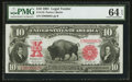Large Size:Legal Tender Notes, Fr. 119 $10 1901 Legal Tender PMG Choice Uncirculated 64 EPQ.. ...