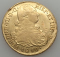 Colombia, Colombia: Charles IV gold 8 Escudos 1810 P-JF aXF - Damaged,...