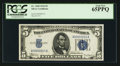 Small Size:Silver Certificates, Low Serial Number A00000015A Fr. 1650 $5 1934 Silver Certificate. PCGS Gem New 65PPQ.. ...