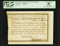 Colonial Notes:Massachusetts, Massachusetts Treasury Certificate 5% Interest $100 December 24, 1780 Anderson MA-23 PCGS Apparent Extremely Fine 40, Pen Canc...