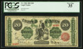 Large Size:Legal Tender Notes, Fr. 126b $20 1863 Legal Tender PCGS Very Fine 35.. ...