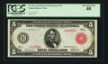 Large Size:Federal Reserve Notes, Fr. 841a $5 1914 Red Seal Federal Reserve Note PCGS Extremely Fine 40.. ...