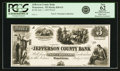 Watertown, WI - Jefferson County Bank $3 July 1, 1853 WI-820 G4. Proof. PCGS New 62 Apparent