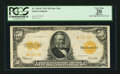 Large Size:Gold Certificates, Fr. 1200* $50 1922 Gold Certificate PCGS Apparent Very Fine 20.. ...