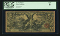 Large Size:Silver Certificates, Fr. 270 $5 1896 Silver Certificate PCGS Good 06.. ...