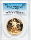 Modern Bullion Coins, 1993-W G$50 One-Ounce Gold Eagle PR70 Deep Cameo PCGS....