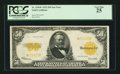 Large Size:Gold Certificates, Fr. 1200* $50 1922 Gold Certificate PCGS Very Fine 25.. ...