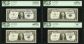 Small Size:Silver Certificates, Cut Sheet of 32 Fr. 1619 $1 1957 Silver Certificates. PCGS Graded. . ... (Total: 32 notes)