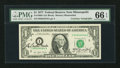 Dual Courtesy Autographed Fr. 1909-I $1 1977 Federal Reserve Note. PMG Gem Uncirculated 66 EPQ
