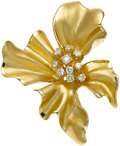 Estate Jewelry:Brooches - Pins, Diamond, Gold Pendant-Enhancer-Brooch. ...