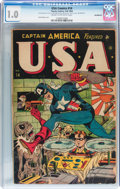 Golden Age (1938-1955):Superhero, USA Comics #14 (Timely, 1944) CGC FR 1.0 Cream to off-white pages....