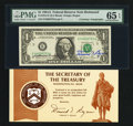 Small Size:Federal Reserve Notes, Dual Courtesy Autographed Fr. 1912-E $1 1981A Federal Reserve Note. PMG Gem Uncirculated 65 EPQ.. ...