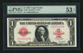 Large Size:Legal Tender Notes, Fr. 40 $1 1923 Legal Tender PMG About Uncirculated 53 EPQ.. ...