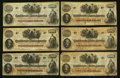 Confederate Notes:1862 Issues, T41 $100 1862 Nine Examples.. ... (Total: 9 notes)