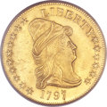 Early Eagles, 1797 $10 Large Eagle, BD-2, High R.4, MS63 PCGS. CAC....