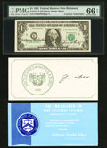 Small Size:Federal Reserve Notes, Dual Courtesy Autographed Fr. 1913-E $1 1985 Federal Reserve Note. PMG Gem Uncirculated 66 EPQ.. ...