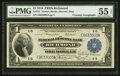 Fr. 721 $1 1918 Federal Reserve Bank Note Double Courtesy Autographed PMG About Uncirculated 55 EPQ